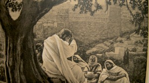 Jesus weeping over Jerusalem