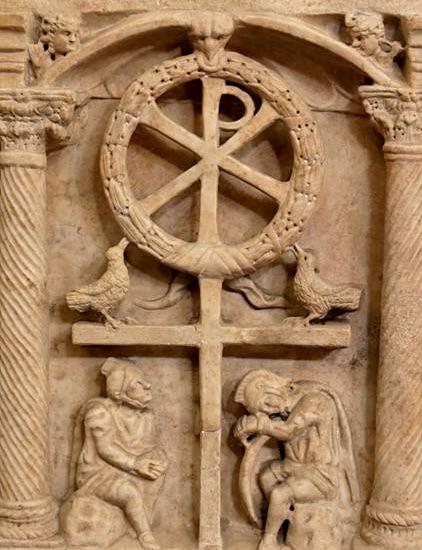 cross, 4th Century Sarcophagus, Rome