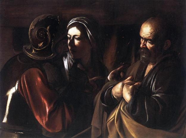 Caravaggio, Denial of St. Peter, (1610)