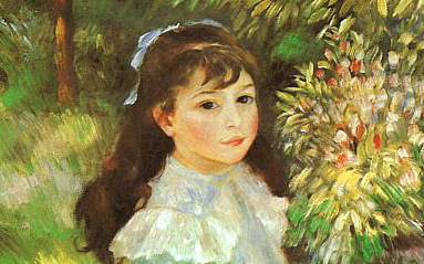 renoir girl with a hoop 1885 detail