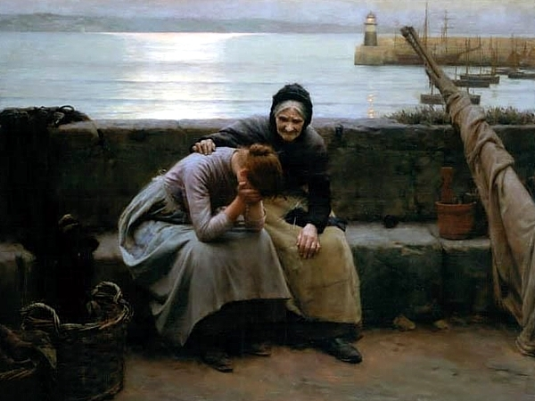 Walter_Langley_-_Never_Morning_Wore_To_Evening_But Some Heart did Break 1894
