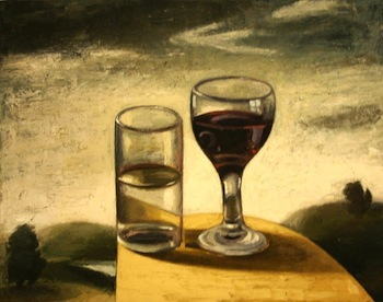 Water and Wine, oil on canvas—Richard Baker (Born 1959)