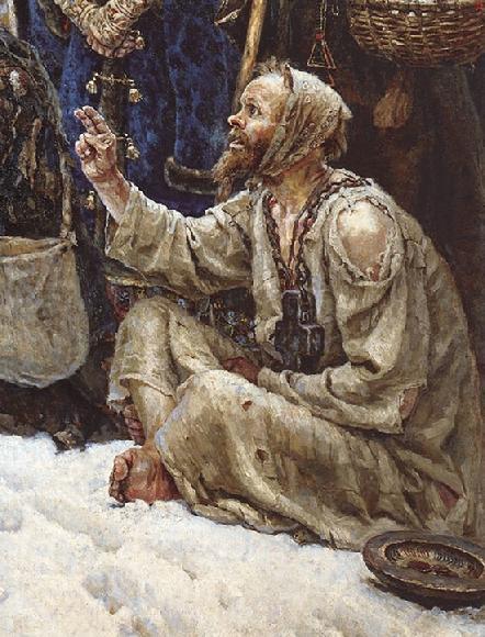 The Boyarina Morozova, Vasilij Surikov, 1887, detail 2