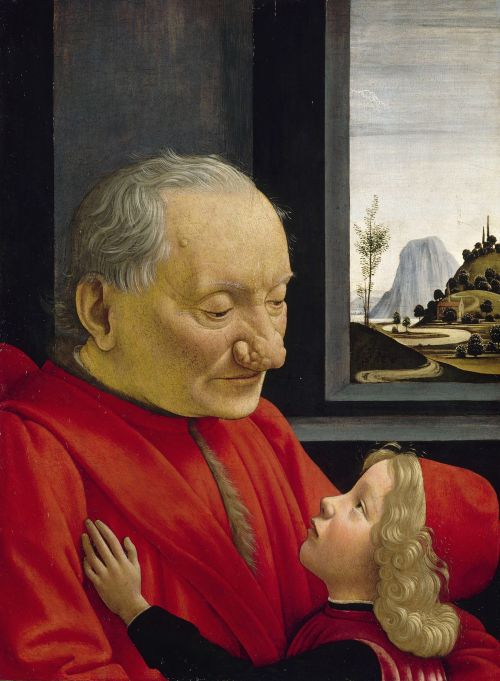 An Old Man and his Grandson ca 1490 by Domenico Ghirlandaio