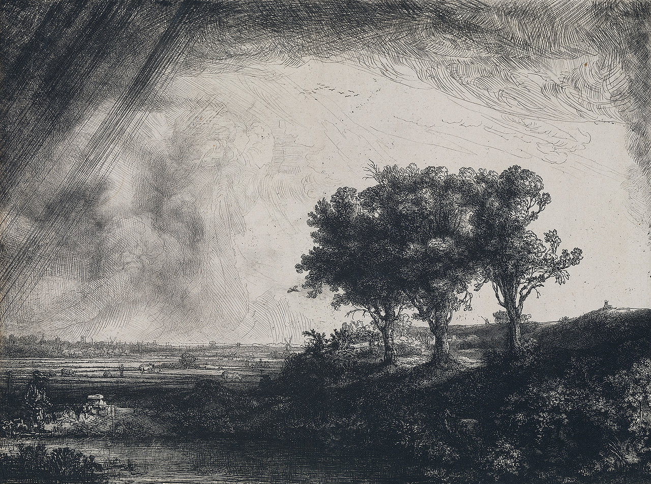 rembrandt the-three-trees-1643