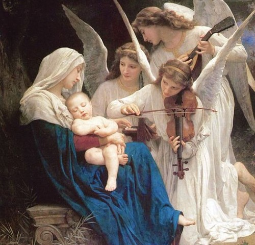 William-Adolphe Bouguereau Song of the Angels 1881