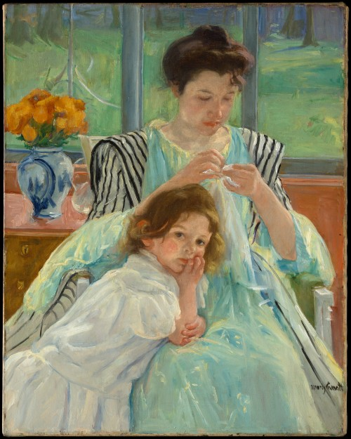 Mary Cassatt Young Mother Sewing 1900 Met