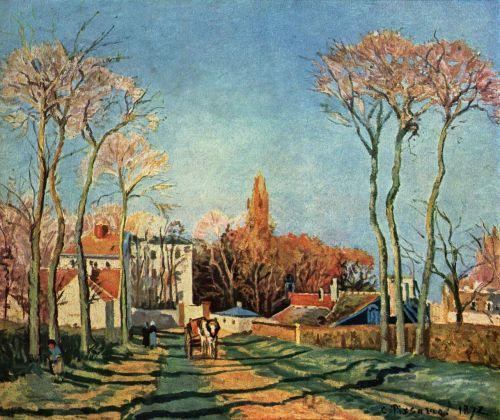 Camille Pissarro Entree du village de Voisins 1872.jpg