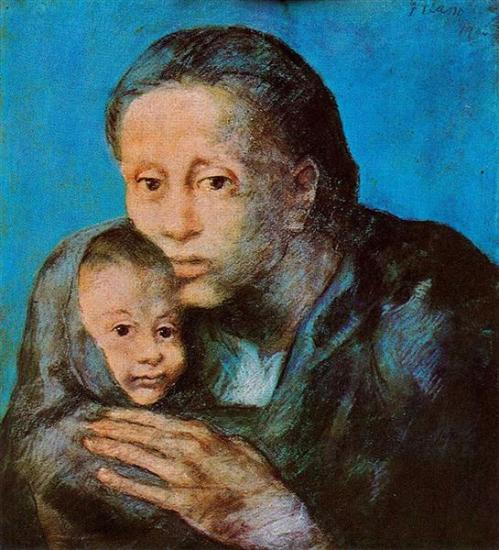 picasso-mother-and-son-with-handkerchief-1903