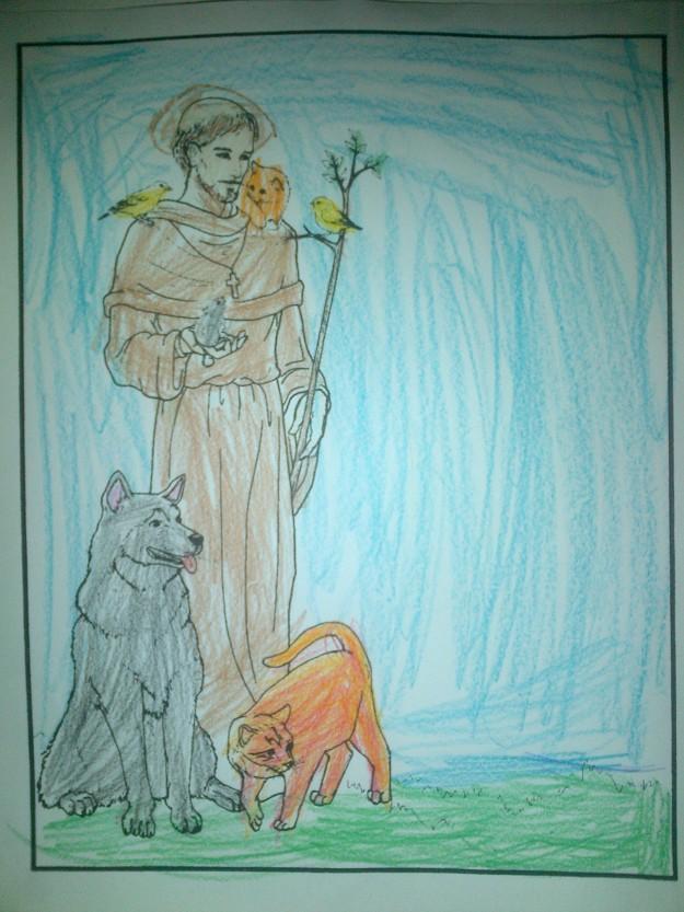 saint-francis-coloring-page