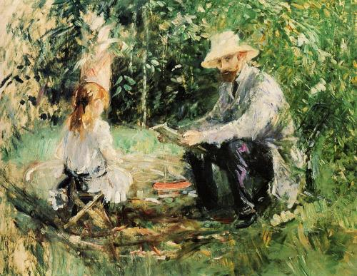 berthe-morisot-eugene-manet-and-his-daughter-in-the-garden-1883