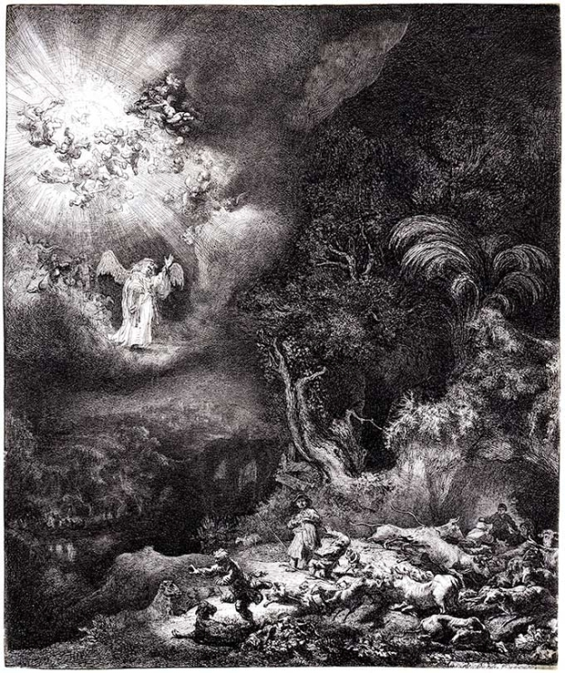 rembrandt-angel-appearing-to-the-shepherds-1634