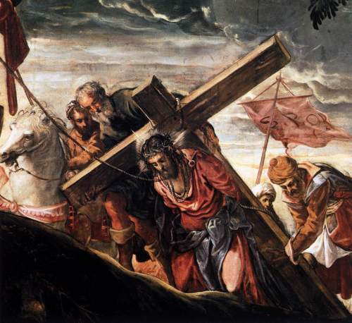 Jacopo Tintoretto The Ascent to Calvary (1566-67)(detail)
