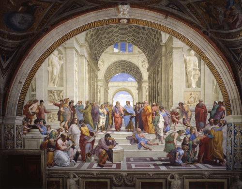 Raphael School of Athens Vatican Museum