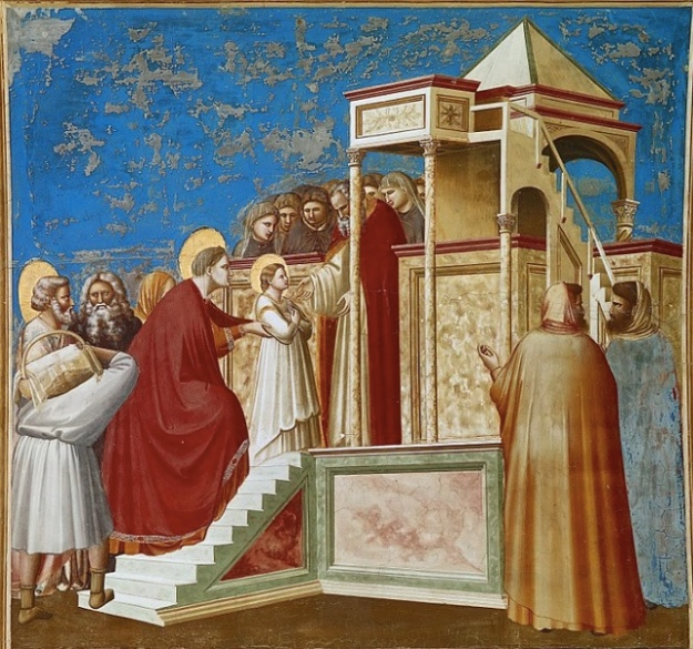 Mary in temple Giotto