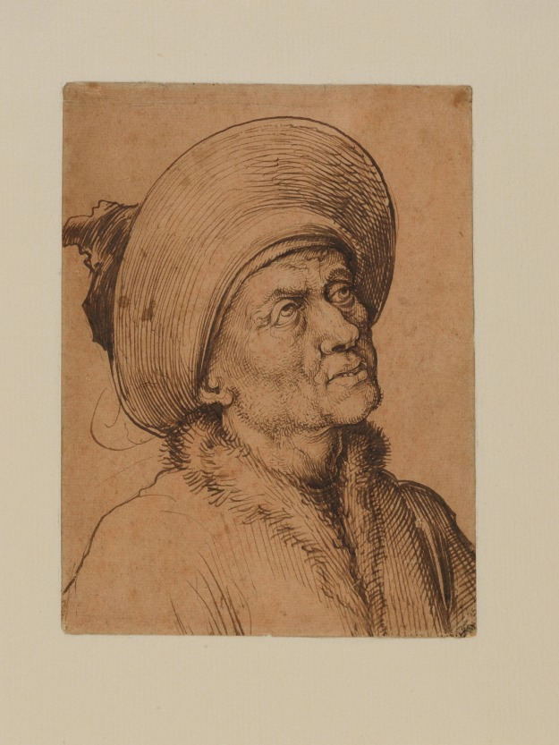 Martin Schongauer Bust of a Man in a Hat Gazing Upward ca 1480-90 The Met